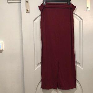 Eileen Fisher maroon maxi skirt. EUC!